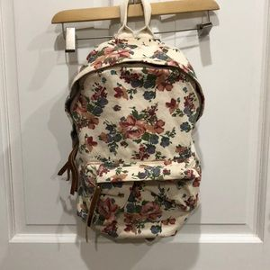 BRANDY MELVILLE cream and floral Backpack
